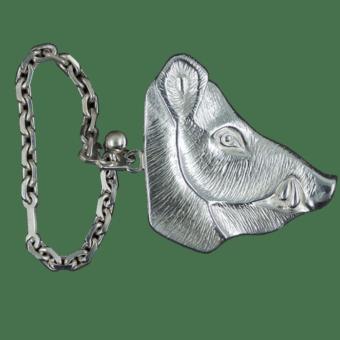 Porte clés sanglier chaîne